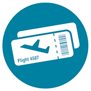 Illustration of airline tickets